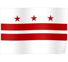 Washington DC Flag Poster