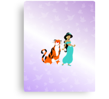 jasmine and her pal rajah Canvas Print