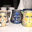 tiny oil jugs handpainted (sold) by catherine walker