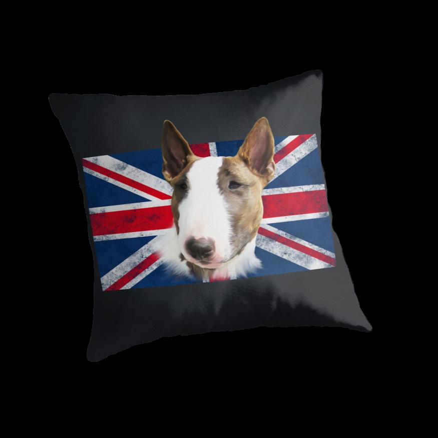 Bull Terrier BETTY Bullterrier UK grunge FLAG // black by bullylove