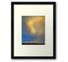 Iridescent Clouds And Diffraction Framed Print
