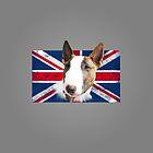 Bull Terrier BETTY Bullterrier UK grunge FLAG // transparent by bullylove