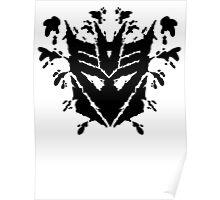 Deceptiblot (black) Poster