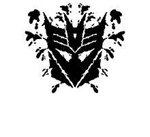 Deceptiblot (black) Photographic Print