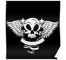 Winged Skull Poster