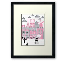 A view of Paris, France Framed Print