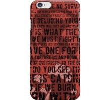 The Hunger Games Typography iPhone Case/Skin