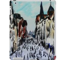 Chester Cityscape Urban Street Contemporary Acrylic Painting On Paper iPad Case/Skin
