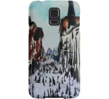 Chester Cityscape Urban Street Contemporary Acrylic Painting On Paper Samsung Galaxy Case/Skin