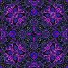 Celtic Amethyst Butterfly Mandala by Richard H. Jones