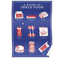 A Guide to Space Food Poster
