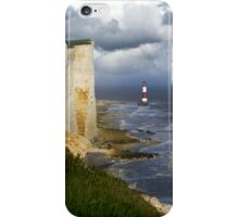 Red-white striped lightouse iPhone Case/Skin
