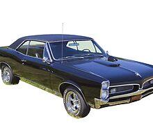 Black 1967 Pontiac GTO Muscle Car by KWJphotoart