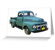 1951 ford F-1 Antique Pickup Truck Greeting Card
