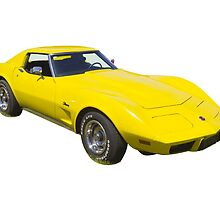 1975 Corvette Stingray Muscle Car by KWJphotoart