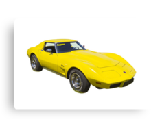 1975 Corvette Stingray Muscle Car Canvas Print