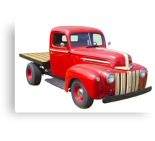1947 Ford Flat Bed Antique Pickup Truck Canvas Print
