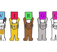 VIRGO cats birthday greetings. by KateTaylor