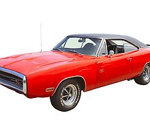 Red 1970 Dodge Charger R/t Muscle Car by KWJphotoart