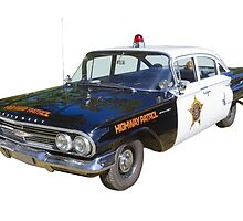 1960 Chevrolet Biscayne Police Car by KWJphotoart