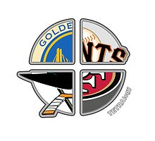 San Francisco Pro Sports TETRAlogy! 49ers, Giants, San Jose Sharks and the Golden State Warriors by SplitDecision