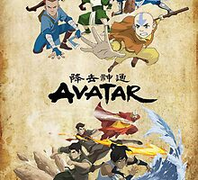 Avatar The Last Airbender and Legend of Korra Poster by chrissy42