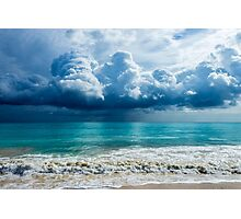 Storm Clouds Over Waimanalo Photographic Print
