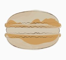 Orange Macaron Sticker Food Crafts French Macaroon by StickerStore