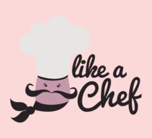 Like a chef with a cooking chefs hat by jazzydevil