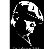 The Notorious B.I.G. Stencil Photographic Print