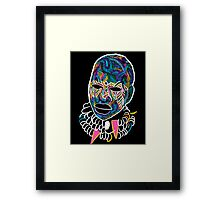 Voodoo Portrait with ethnic ornaments Framed Print