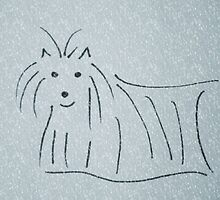Skye Terrier in the snow by samandoliver