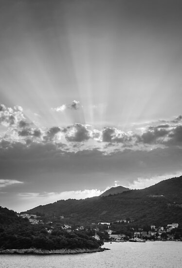 Dubrovnik Beams BW by Matti Ollikainen