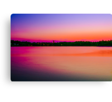 Peaceful Sun Dusk Canvas Print