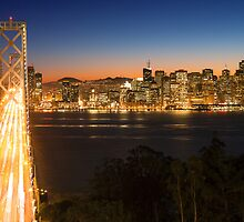 San Francisco Skyline at Night by Dmitry Shuster