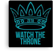 zeta tau alpha watch the throne Canvas Print