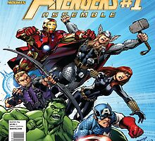 Avengers Assemble Comic Cover by PuzzlePieces