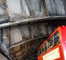 London Bus in Tunnel by Alex Rentzis