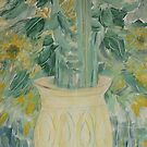 A vase of sunflowers by catherine walker