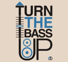 TURN THE BASS UP - Crossfader & Speaker DJ, Dark by AMNdesigns