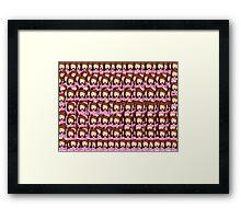 Sassy Emoji Collage Framed Print