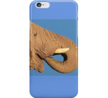 Elephant - Thirst and Pleasure - African Wildlife Background iPhone Case/Skin