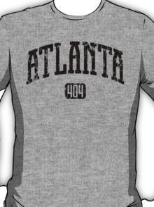 Atlanta 404 (Black Print) T-Shirt