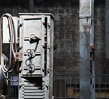 Grungy Old Warehouse Machinery by glennsphotos
