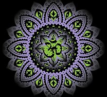 Yoga Mandala Henna Ornate Ohm Purple by Carolina Swagger