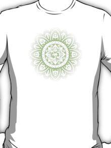 Yoga Mandala Henna Ornate Ohm Sage Green T-Shirt