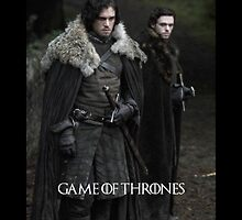 Game of Thrones - Jon snow and Robb Stark by queenavox
