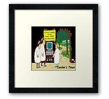 Heaven's Hard-Drive Can Wait Framed Print