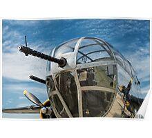 B-25 Mitchell Bomber (WWII) Yankee Warrior (Nose gun) Poster