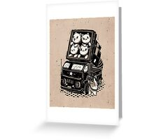 Rocket Cats - Vintage Style Greeting Card